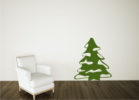 wandtattoo weihnachten weihnachtsbaum mit schnee. Black Bedroom Furniture Sets. Home Design Ideas