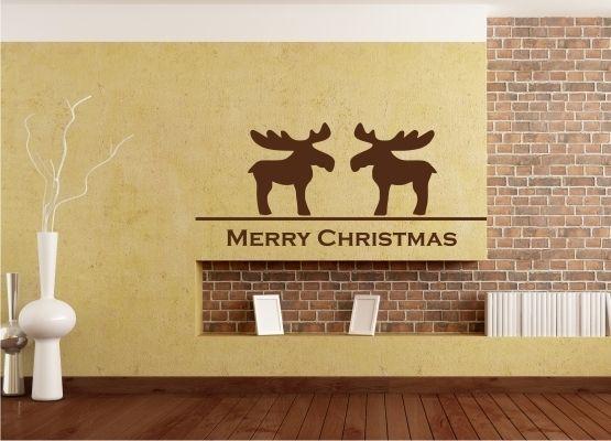 wandtattoo weihnachten rentiere 2er set. Black Bedroom Furniture Sets. Home Design Ideas