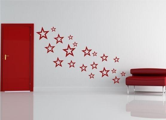wandtattoo weihnachten sterne 20er set. Black Bedroom Furniture Sets. Home Design Ideas