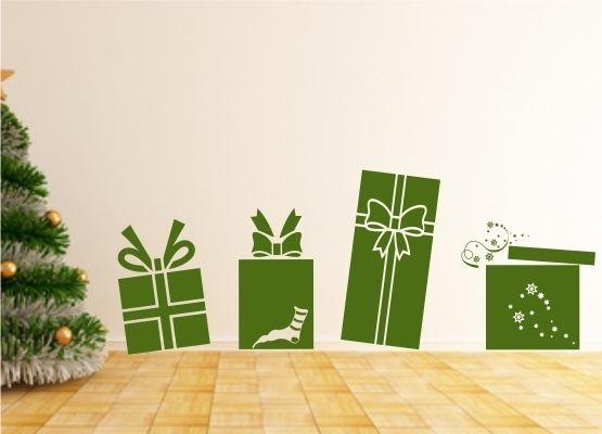 wandtattoo weihnachten 4 weihnachtsgeschenke. Black Bedroom Furniture Sets. Home Design Ideas