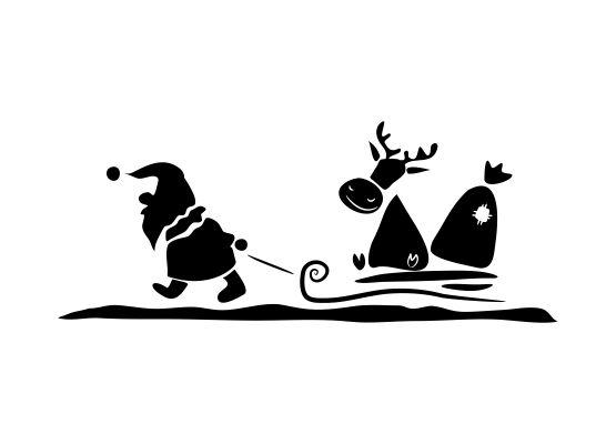 wandtattoo weihnachten santa claus rentierschlitten. Black Bedroom Furniture Sets. Home Design Ideas