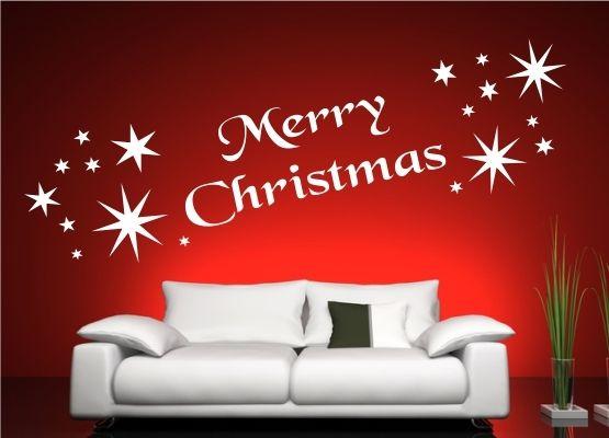 wandtattoo weihnachten schriftzug merry christmas. Black Bedroom Furniture Sets. Home Design Ideas