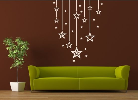 wandtattoo weihnachten schn re mit sternen. Black Bedroom Furniture Sets. Home Design Ideas