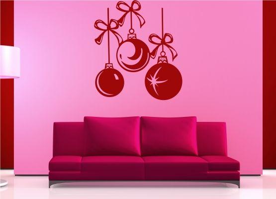wandtattoo weihnachten schn re mit christbaumkugeln. Black Bedroom Furniture Sets. Home Design Ideas