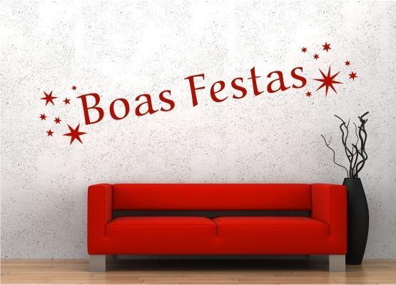 wandtattoo frohe weihnachten portugiesisch