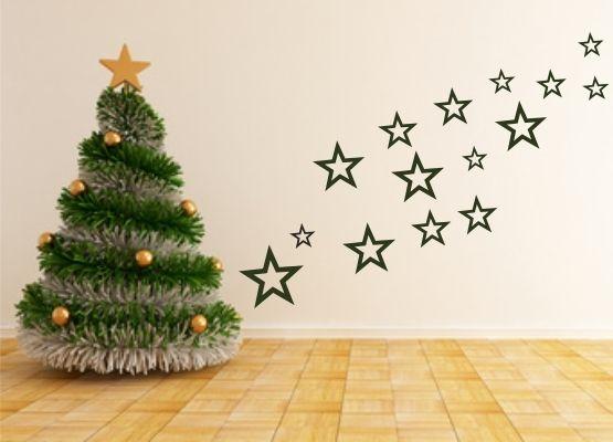 Wandtattoo weihnachten sterne 15er set for Wandtattoo weihnachten