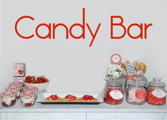 ... Hochzeit Candy Bar » Wandtattoo Hochzeit Candy Bar Schriftzug - T14