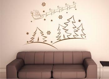wandtattoo weihnachten hirschkopf. Black Bedroom Furniture Sets. Home Design Ideas