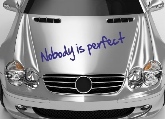 Autoaufkleber Und Sticker Nobody Is Perfect