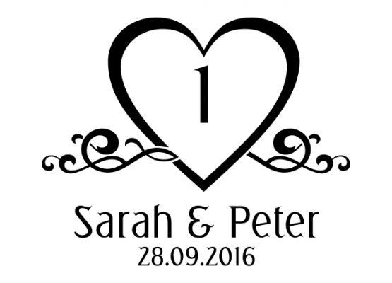 Autoaufkleber Hochzeit filigrane Herzen