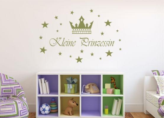Wandtattoo Kinderzimmer - Kleine Prinzessin mit Sternen