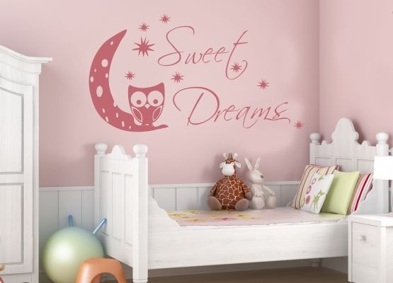Wandtattoo Kinderzimmer - Eule Sweet Dreams