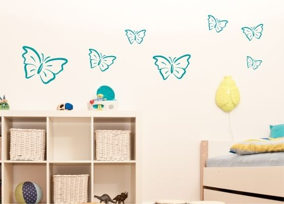 wandtattoo kinderzimmer eleganter schmetterling 20er set. Black Bedroom Furniture Sets. Home Design Ideas