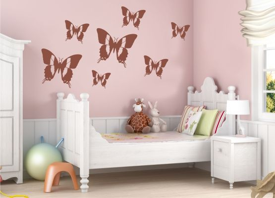 Wandtattoo Kinderzimmer - Schmetterling 05 - 20er Set