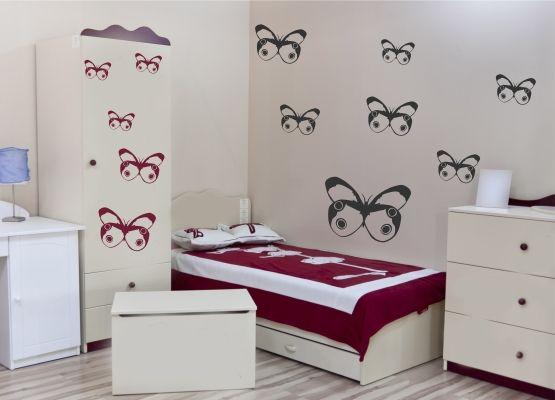 Wandtattoo Kinderzimmer - Schmetterling 06 - 20er Set