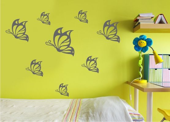 Wandtattoo Kinderzimmer - Schmetterling 08 - 20er Set