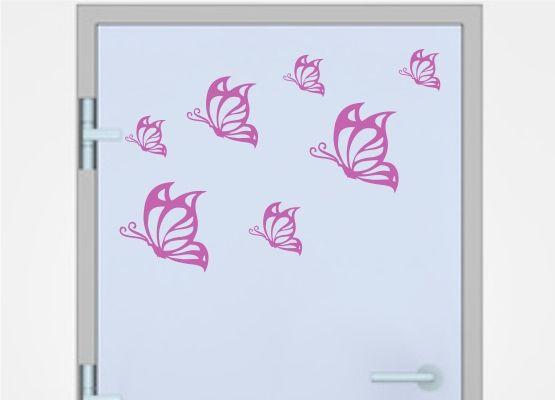 Wandtattoo Kinderzimmer Schmetterling 08 20er Set