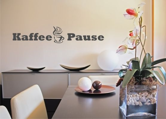 Wandtattoo Küche - Kaffee Pause