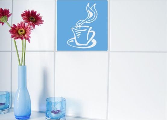 fliesenaufkleber k che kaffeetasse 03 gr e s. Black Bedroom Furniture Sets. Home Design Ideas