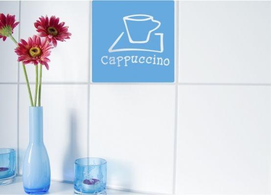 fliesenaufkleber k che cappuccino gr e m. Black Bedroom Furniture Sets. Home Design Ideas