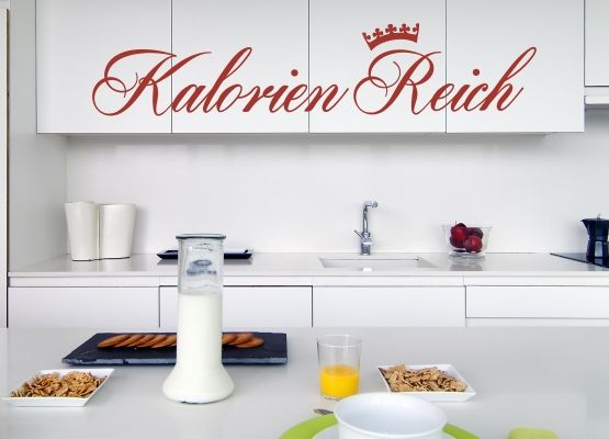 Wandtattoo Küche - Kalorien Reich