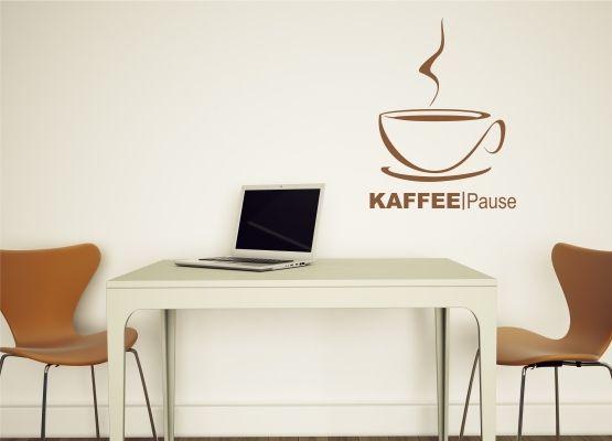 Wandtattoo Küche - Kaffeepause mit Kaffeetasse
