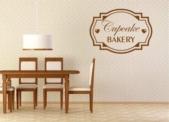 Wandtattoo Küche - Schild Cupcake Bakery