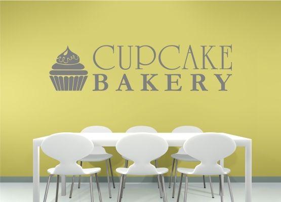Wandtattoo Küche - Schriftzug Cupcake Bakery