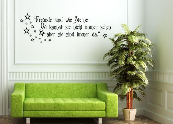 Wandtattoo Freunde Sind Wie Sterne Du Kannst Sie