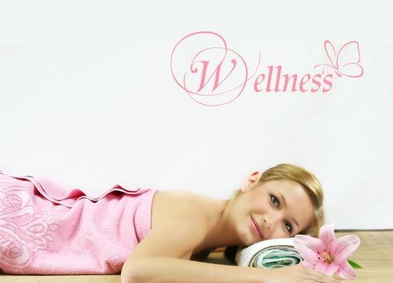 Wellness sprüche zitate  Wandtattoo Sprüche - Wellness mit filigranem Schmetterling