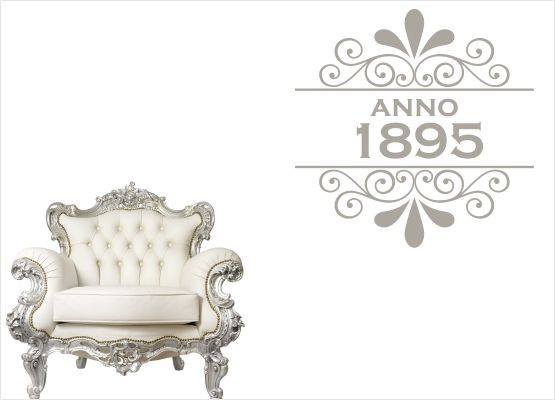 Möbeltattoo Anno 1895 mit Ornament Shabby Chic Style - 02