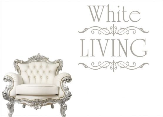 Möbeltattoo White Living Ornament Shabby Chic Style