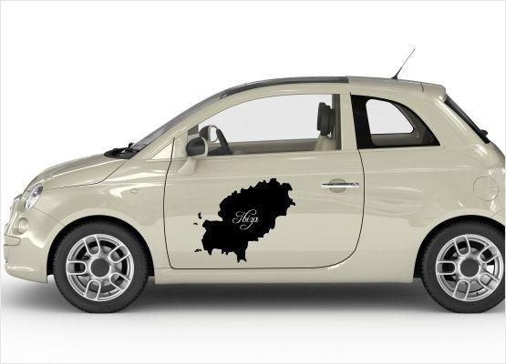 Ibiza Karte Umriss.Autoaufkleber Motive Ibiza Landkarte 02