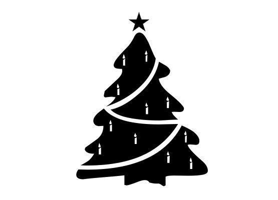 Stern Auf Weihnachtsbaum.Wandtattoo Weihnachten Weihnachtsbaum Mit Stern