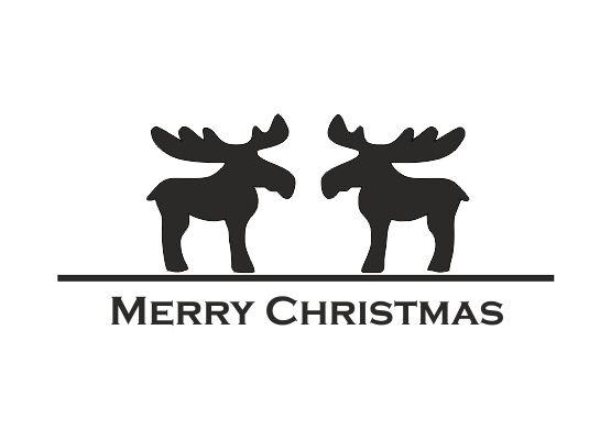 Bilder Rentiere Weihnachten.Wandtattoo Weihnachten Rentiere 2er Set