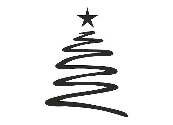 wandtattoo weihnachten tannenbaum mit stern. Black Bedroom Furniture Sets. Home Design Ideas