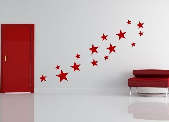 wandtattoo weihnachten weihnachtssterne 15er set. Black Bedroom Furniture Sets. Home Design Ideas