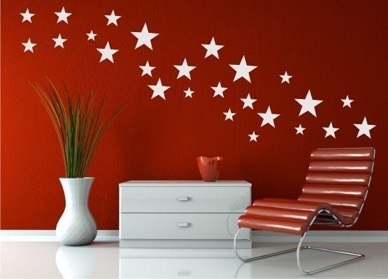 wandtattoo weihnachten weihnachtssterne 25er set. Black Bedroom Furniture Sets. Home Design Ideas