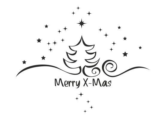 wandtattoo weihnachten tannenbaum mit sternen. Black Bedroom Furniture Sets. Home Design Ideas