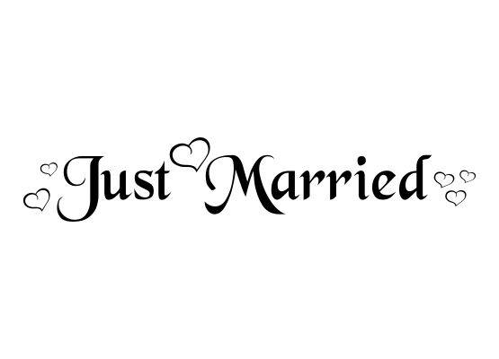 Autoaufkleber Hochzeit Just Married Mit Herzen T04