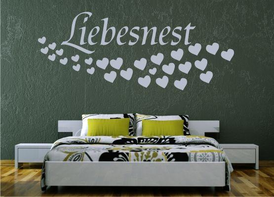 Wandtattoo Hochzeit Liebesnest Mit Herzschwarm