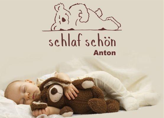 kinderzimmer - schlaf schön und name
