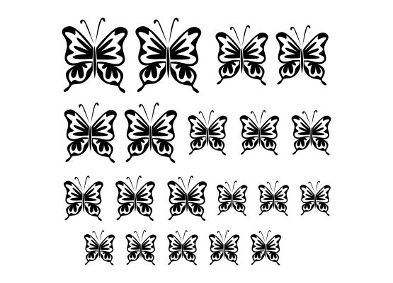 wandtattoo kinderzimmer schmetterling 07 20er set. Black Bedroom Furniture Sets. Home Design Ideas