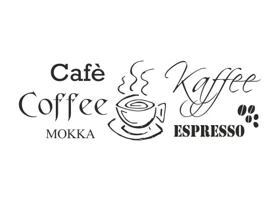 Wandtattoo Küche - Coffee - Kaffee - Cafè