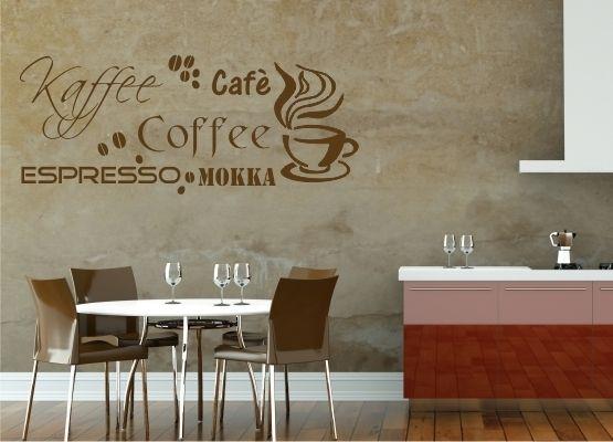 Wandtattoo Küche - Espresso - Mokka