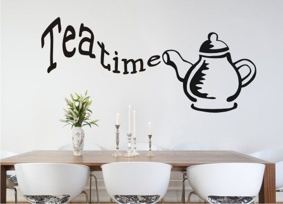 Wandtattoo Küche - Teatime