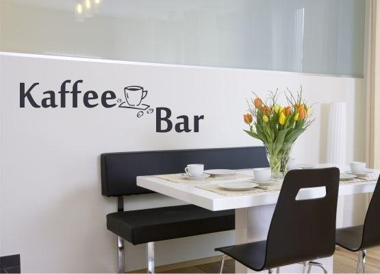 Wandtattoo Küche - Kaffee Bar