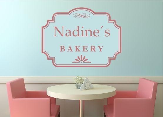 Name Für Küche | Wandtattoo Kuche Schild Bakery Mit Name