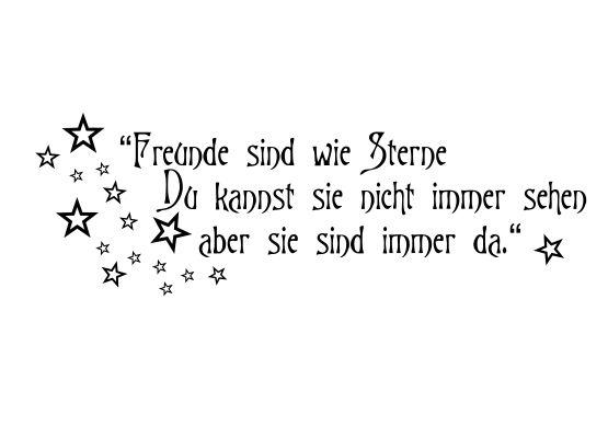 Wandtattoo Freunde sind wie Sterne, Du kannst sie