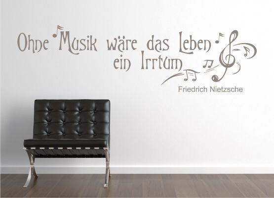 Wandtattoo Ohne Musik Wäre Das Leben Ein Irrtum